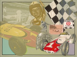A.J. Foyt Tribute by CW Mundy, Acrylic on Canvas, 30x40