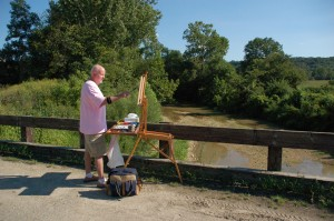 And some Plein Air painting at Duck Creek August 2011