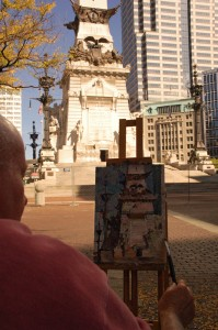 "CW on location, ""Soldiers & Sailors Monument"", 12x9 ©CWMundy"