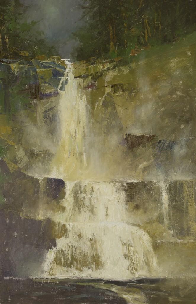 High Falls, Adirondack Mts., C.W Mundy, cw mundy