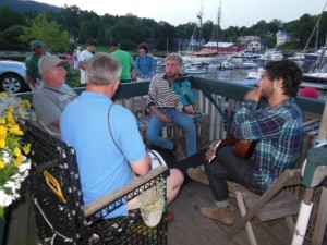 Of course a little night music at the Camden Harbor !