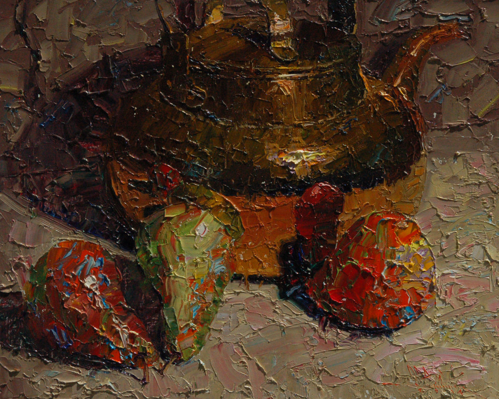 Pears & Brass Pot
